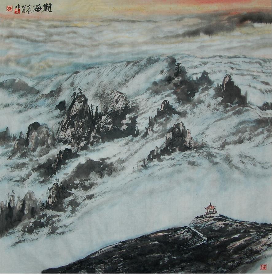 《观海》2014年 王林昌作 68X68cm(postedA)