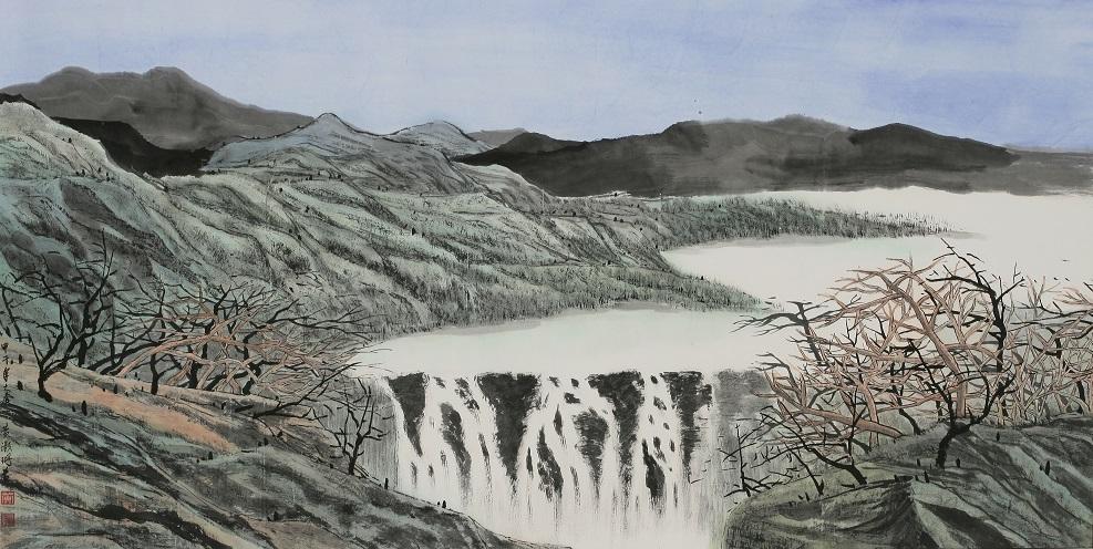 黃灝珊  晴溪A 139x69cm