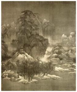 雪景寒林图1